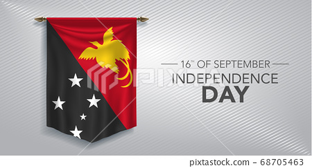 Papua New Guinea independence day greeting card, banner, vector illustration 68705463
