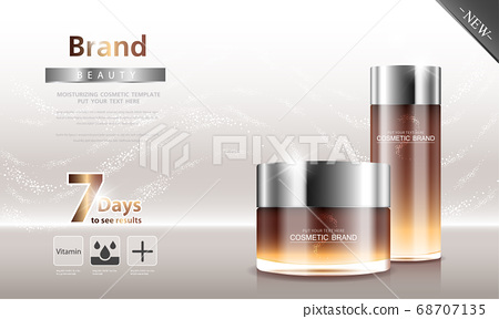 cosmetic cream and body lotion poster premium skin care products. 68707135