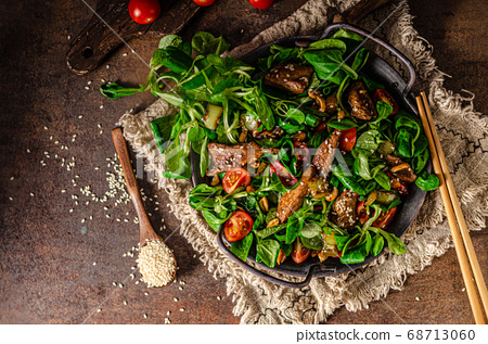 Thai salad with grilled chicken 68713060