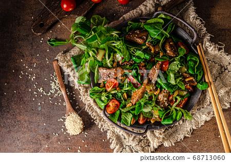 Thai salad with grilled chicken 68713060