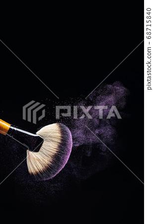 Makeup concept with a  professional makeup brush 68715840