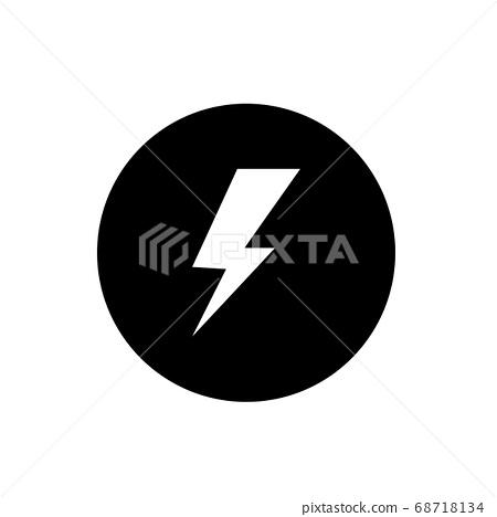lightning bolt icon 68718134