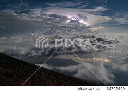 Thundercloud from Mount Fuji 68725469