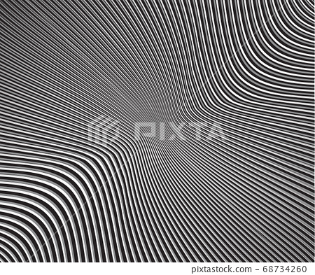 curved lines monochrome halftone black and white 68734260