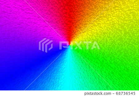 Beautiful Rainbow Gradient Radial Line Stock Illustration 68736545 Pixta