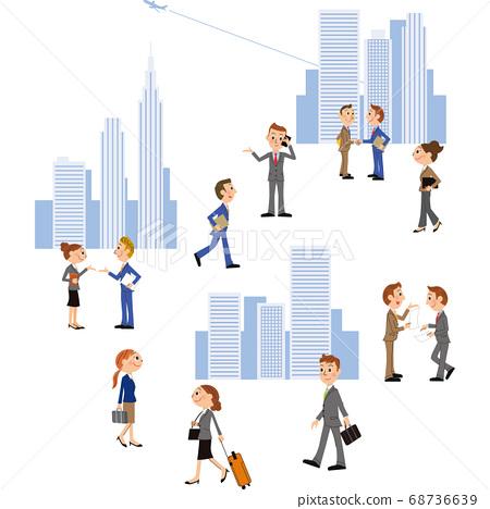 비즈니스 센터에서 비즈니스 현장과 직장인 68736639