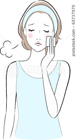 一個在化妝棉上嘆氣的女人 68737970