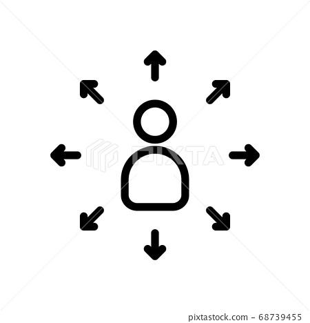 people arrow icon 68739455