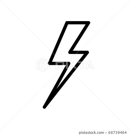 lightning bolt. Thunderbolt Line style 68739464