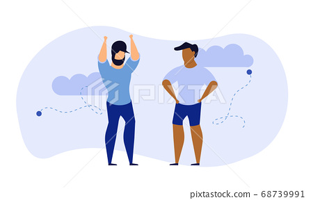 Achievement exercise flat health body mind vector 68739991