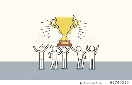 Business team success vector reward illustration 68740019