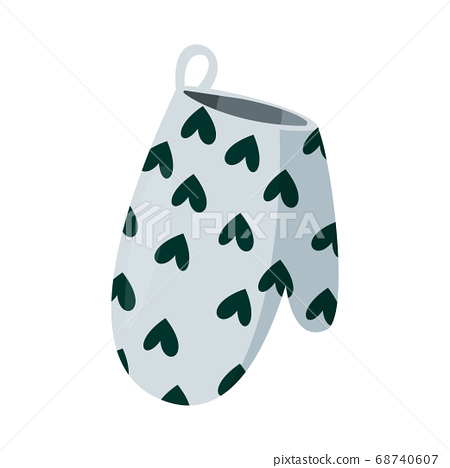 Kitchen potholder for hot dishes. Safety potholder and kitchen pot holder. Vector illustration. 68740607