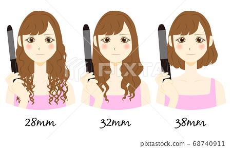 Women with different hair thickness 68740911
