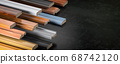 Samples of wooden furniture MDF profiles, 68742120