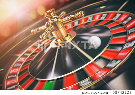 Moving casino roulette with moving ball. 3 68742122
