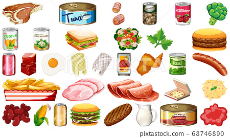 Set of food isolated 68746890