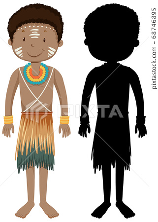 Set of people of African tribes character with its 68746895