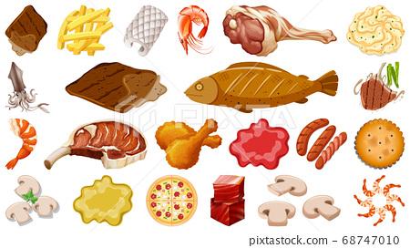 Set of fresh food ingredients 68747010