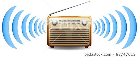 Radio with sound wave 68747015