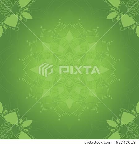 Green mandala art background 68747018