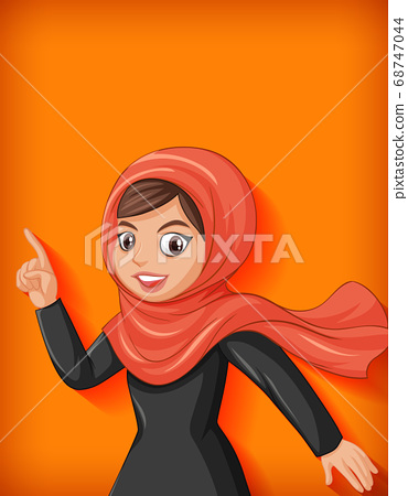 Beautiful arabic lady cartoon character 68747044