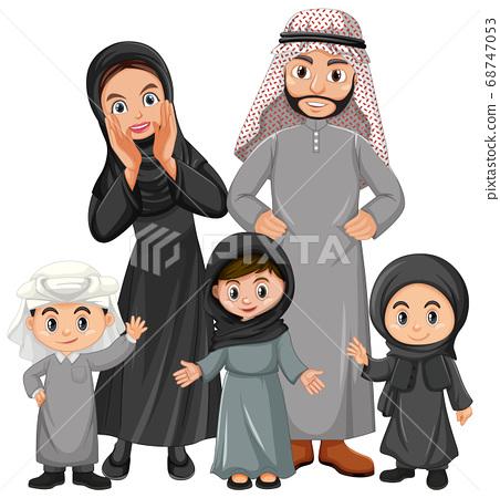 Arabian family on holiday 68747053