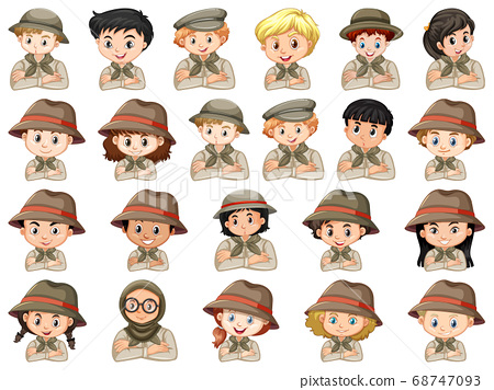 Set of different characters of boys and girls 68747093