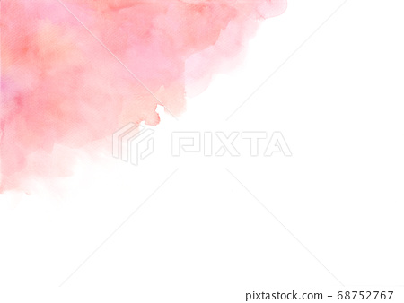 Hand painted abstract orange and pink watercolor on white background. 68752767