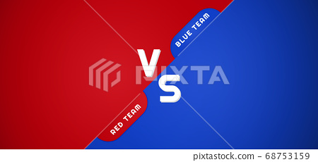 Battle background red and blue versus team overlap 68753159
