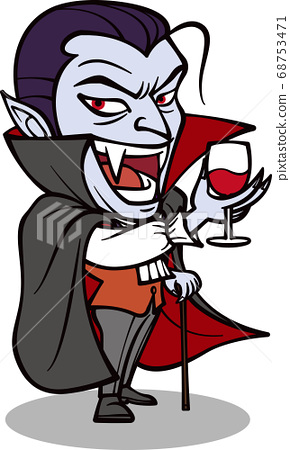 吸血鬼拿著酒杯[2頭,黑色] 68753471