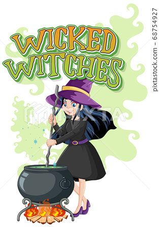 Wicked witches logo on white background 68754927