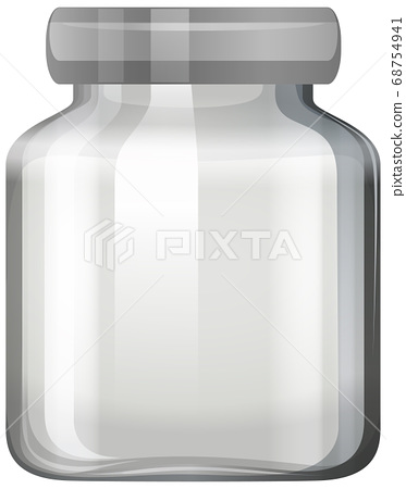 Empty glass jar on white background 68754941