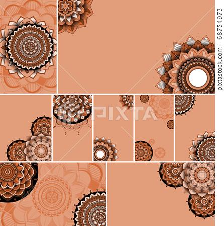 Beautiful mandala design background 68754973
