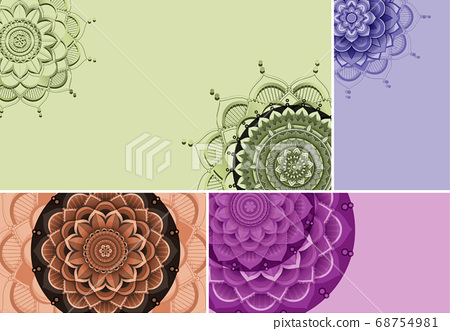 Beautiful colour mandala background 68754981