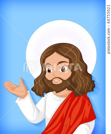 Isolated jesus cartoon character 68755021