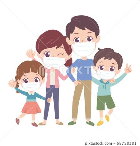 面具家庭圖 68758381