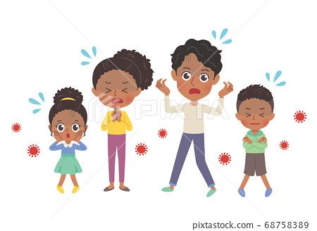 外國黑人家庭圖 68758389