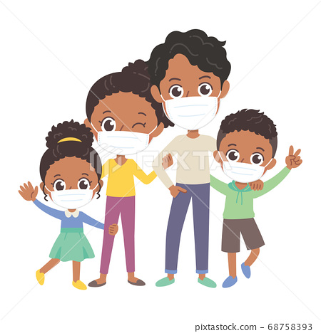 Foreign black family illustration 68758393