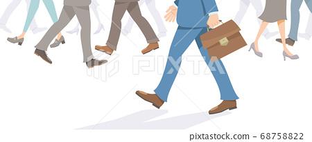 걷는 사업가 다리. 사업, 통근, 영업, 혼잡 이미지. 68758822