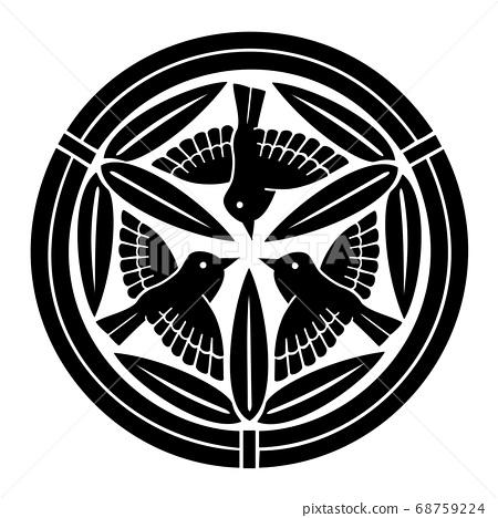 上杉Minbei大輔決定與九隻竹麻雀的家族徽章竹丸 68759224