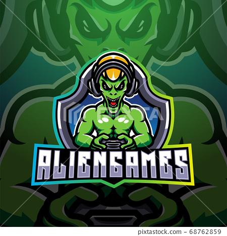 Alien games esport mascot logo 68762859