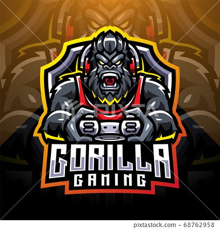 Gorilla gaming esport mascot logo 68762958