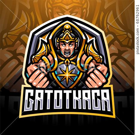 Gatotkaca esport mascot logo design 68762961