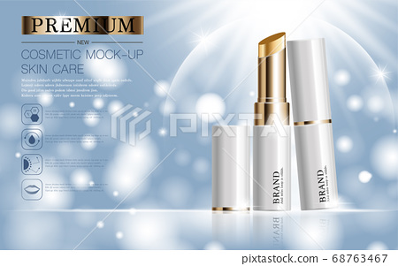 Hydrating facial lipstick for annual sale or festival sale. 68763467