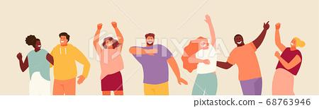 Dancing young people vector set 68763946