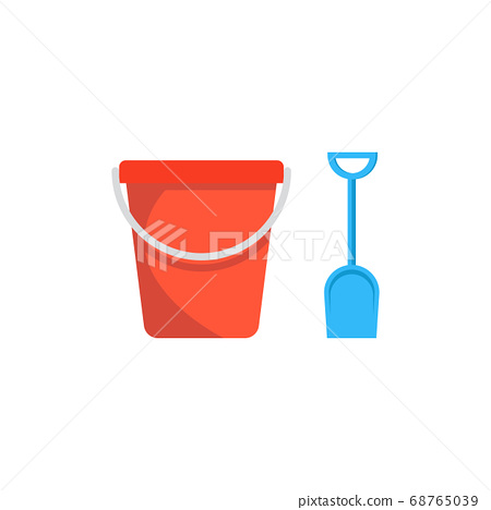 Beach toys pail and shovel 68765039