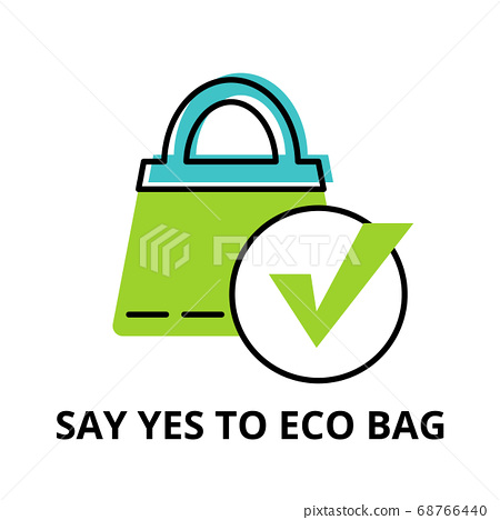Infographic concept of Say Yes to Eco Bag 68766440