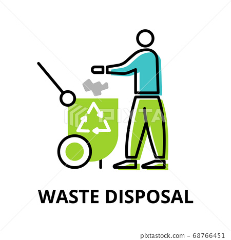 Infographic concept of Waste Disposal 68766451