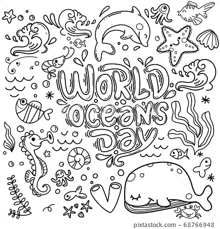 World ocean day, dedicated to protect sea, ocean 68766948