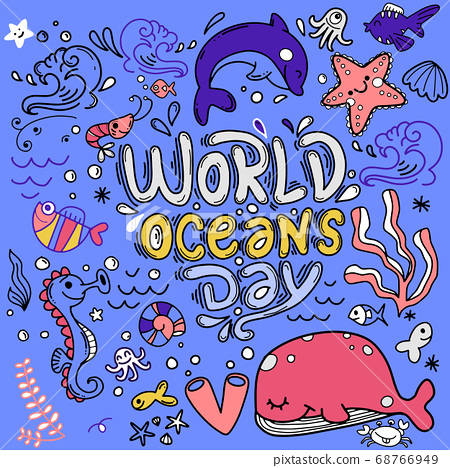 World ocean day, dedicated to protect sea, ocean 68766949